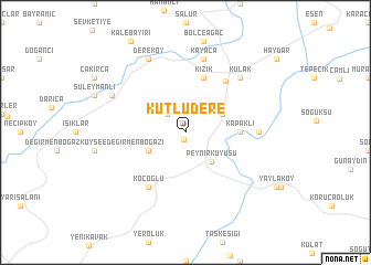map of Kutludere