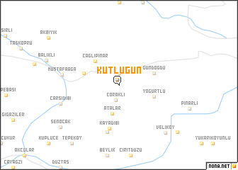 map of Kutlugün