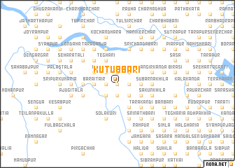 map of Kutubbāri
