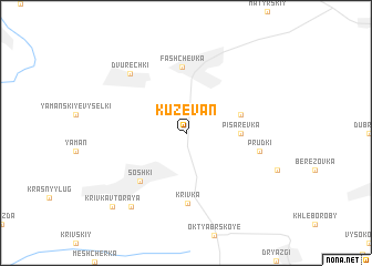 map of Kuzevan\