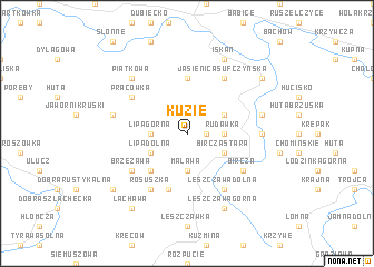 map of Kuzie