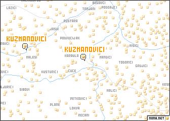 map of Kuzmanovići