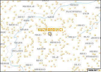 map of Kuzmanovići