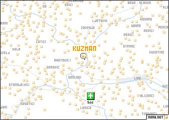 map of Kuzman