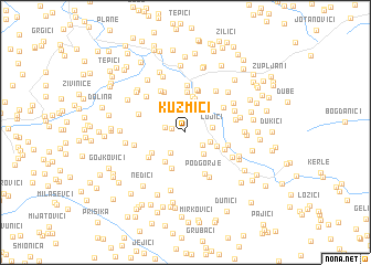 map of Kuzmići