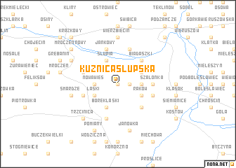 map of Kuźnica Słupska