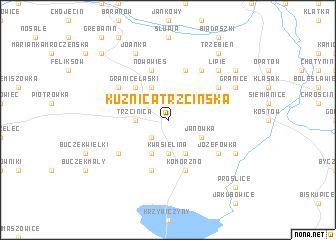map of Kuźnica Trzcińska