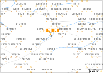 map of Kuźnica