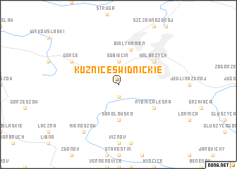 map of Kuźnice Świdnickie
