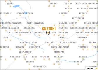 map of Kuźniki
