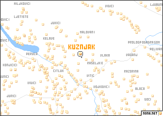 map of Kužnjak