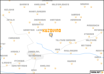map of Kuzovino