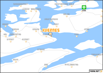 map of Kvernes