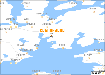 map of Kvernfjord