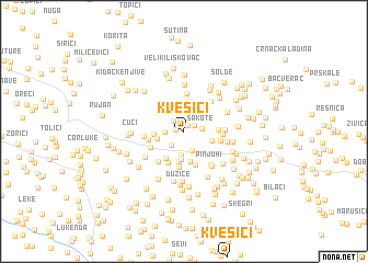 map of Kvesići