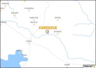 map of Kwandeke