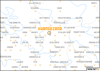 map of KwaNgezana