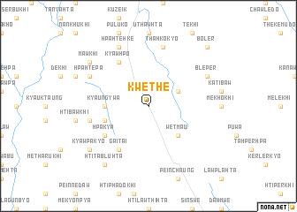map of Kwethe