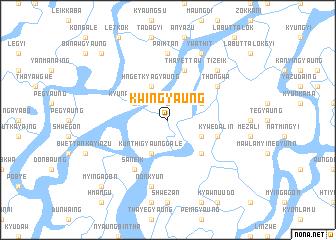 map of Kwingyaung