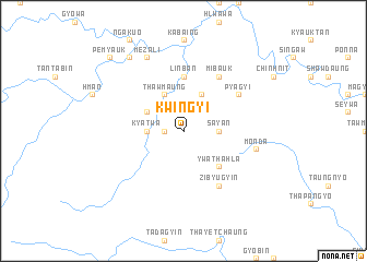 map of Kwingyi