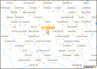 map of Kyaban