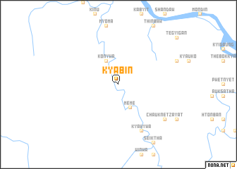 map of Kyabin