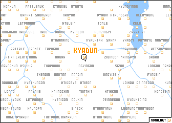 map of Kyadun