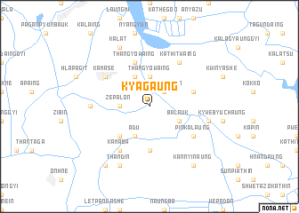 map of Kyagaung