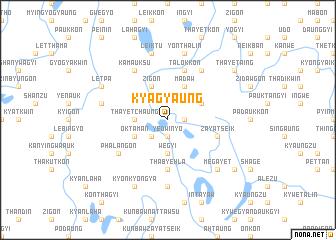 map of Kyagyaung