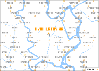 map of Kyaiklatkyiwa
