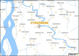 map of Kyaikmaraw