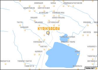 map of Kyaiksagaw