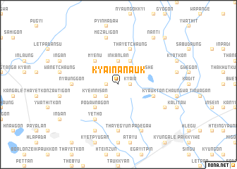 map of Kya-in-anauk
