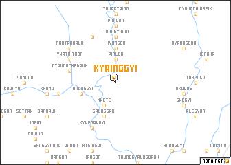 map of Kyainggyi