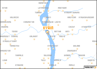 map of Kyain
