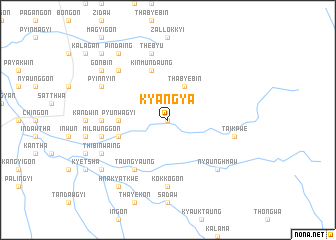 map of Kyangya