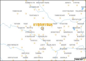 map of Kyani Myauk