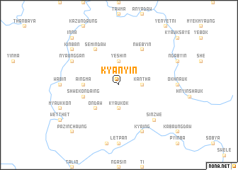 map of Kyanyin