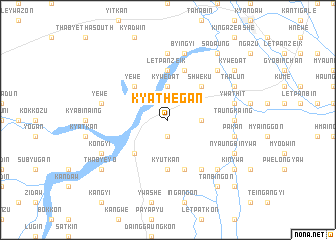 map of Kyathegan