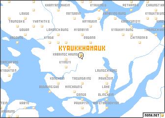 map of Kyaukkhamauk
