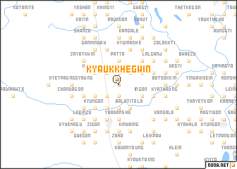 map of Kyaukkhegwin