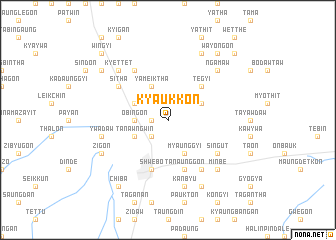 map of Kyaukkon