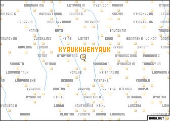 map of Kyaukkwe Myauk