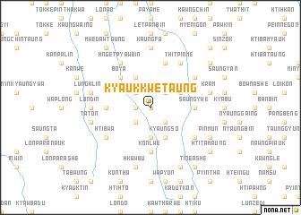 map of Kyaukkwe Taung