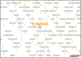 map of Kyaukkwe