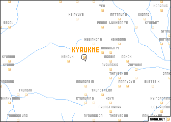 map of Kyaukme