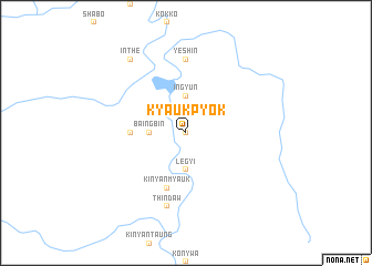 map of Kyaukpyok