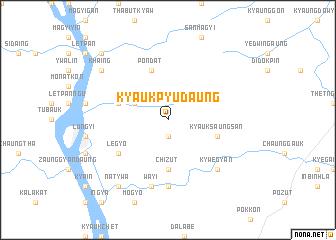 map of Kyaukpyudaung