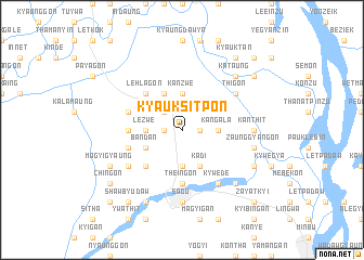 map of Kyauksitpon