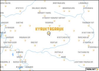 map of Kyauktaga Auk